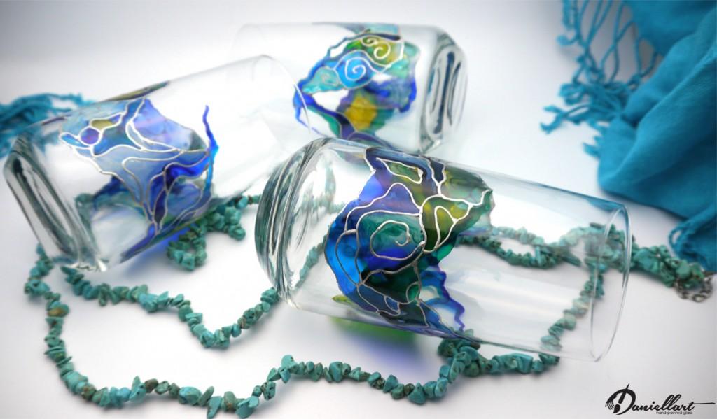 Чаши за вода - Ръчно рисувани